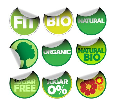 Set of labels for organic, fresh, healthy, bio food Stock Photo - 5740542