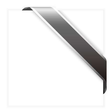 corner flag: Black corner ribbon - with place for your text (check my portfolio for more) Stock Photo