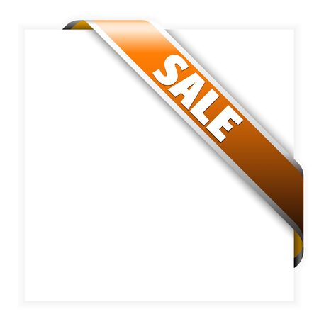 price drop: Orange corner ribbon for items with sale in your eshop