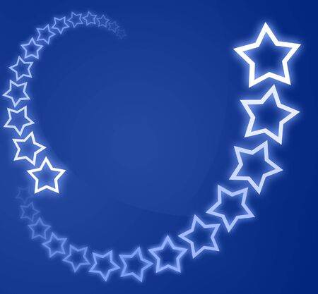 power point: Blue christmas background  card with white stars