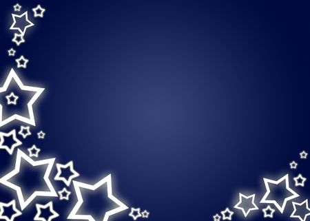 ice slide: Blue christmas background  card with white stars