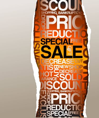 Sale discount advertisement - Hole with texts Stock Photo - 5740810