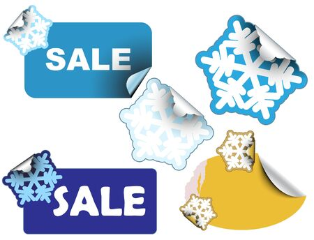 Christmas winter sale labels and stickers photo