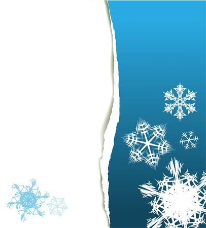 Christmas card - snowflakes and place for your text photo