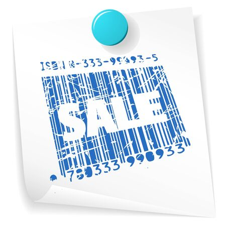 Paper sale ticket - grunge sale stamp on white Stock Photo - 5952503