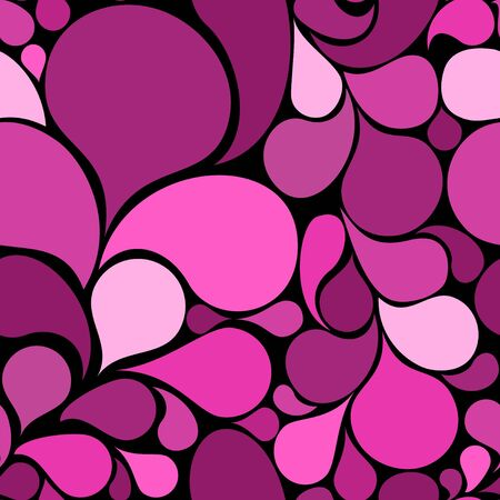 Pink abstract seamless pattern made from various spatters (vector) photo