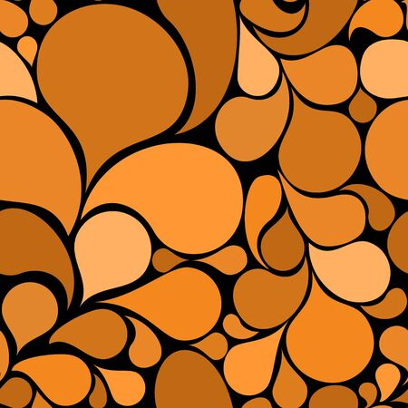 Orange abstract seamless pattern made from various spatters (vector) photo