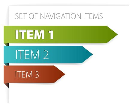 Paper arrows - modern navigation items on white background Stock Photo - 6207007