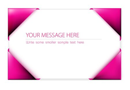 card holder: Business card in the pink card holder (vector)