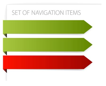 Paper arrows - modern navigation items on white background (vector) Stock Photo - 6258931