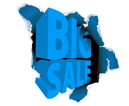 Big sale discount advertisement - Hole with sale text  Stock Photo - 6484766