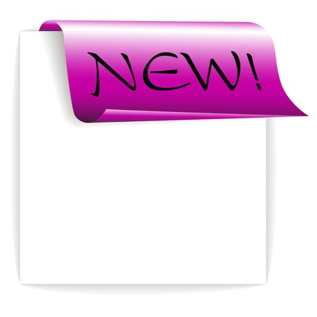 ecomerce: Fresh purple ribbon  paper - bookmark for a new item in your shop