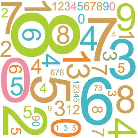 random pattern: Abstract background with colorful numbers Stock Photo
