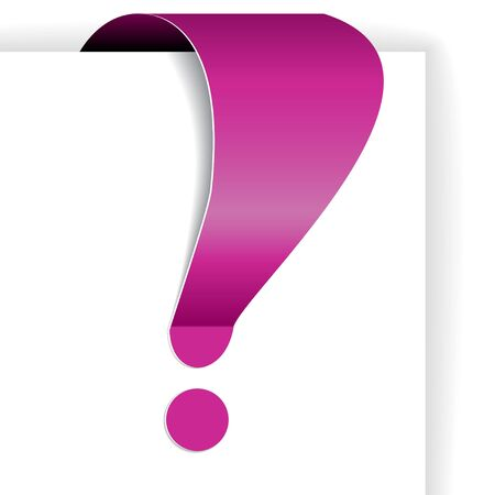 eshop: Pink exclamation mark - tag for important items in eshop Stock Photo