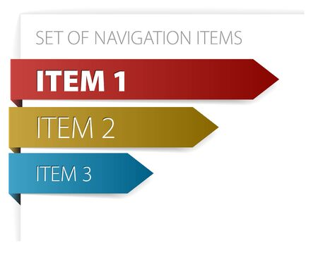 Paper arrows - modern navigation items on white background Stock Photo - 6484753