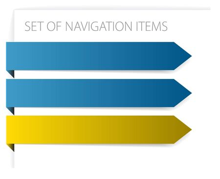 Paper arrows - modern navigation items on white background  Stock Photo - 6484720