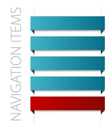modern blue navigation items on white background Stock Photo - 6484721