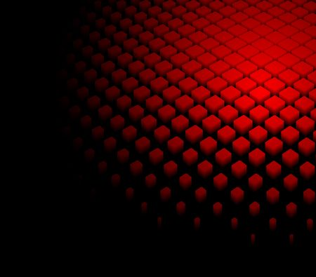 dynamic: 3d abstract dynamic red background on black