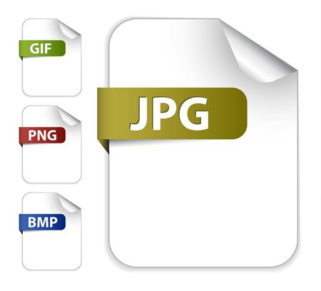 gif: Vector set of icons for image file extensions - jpg, png, gif, png