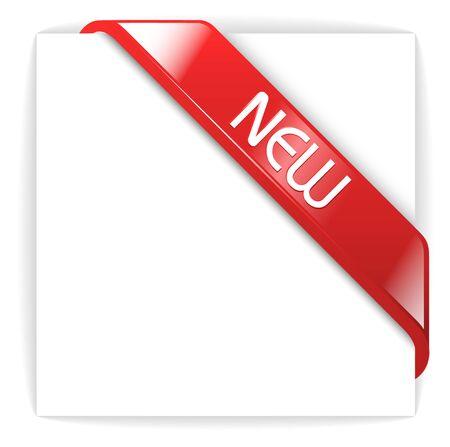 nastro angolo: Nuova barra multifunzione vetrosi angolo rosso su un pezzo di carta