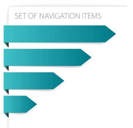 Paper arrows - modern navigation items on white background  Stock Photo - 6655430