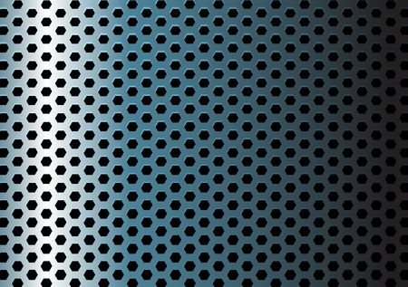 perforated: Metal texture  pattern with hexagon holes