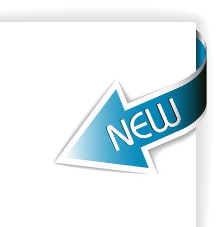 nastro angolo: Nuovo nastro angolo blu - freccia che punta al contenuto