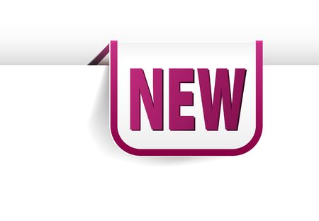 eshop: Purple rounded rectangle bookmark for new item in your eshop