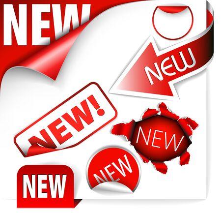hot announcement: Conjunto de elementos para nuevos elementos en eshop o en la p�gina web  Vectores