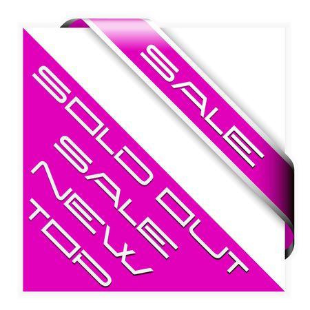 nastro angolo: Nastro rosa angolo di vendita con bordo bianco