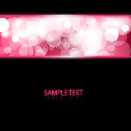 pink and black background: Black abstract background with pink glowing lights