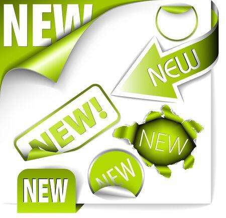 hot announcement: Conjunto de elementos verdes para nuevos elementos en eshop o en la p�gina web