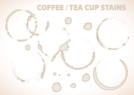 Coffee or tea cup stains on white background Stock Photo - 6881172