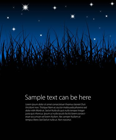 Blue grass background with place for your text Stock Photo - 6881181
