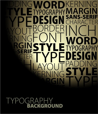 typesetting: Dark Abstract design and typography background