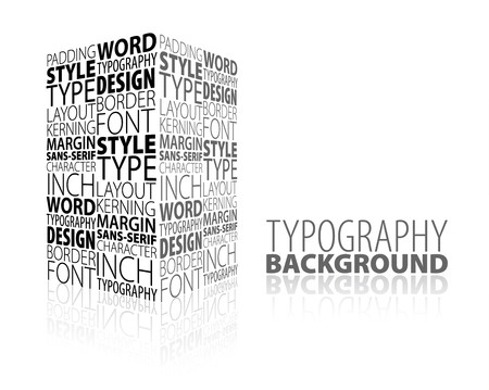 typesetting: Abstract design and typography background with 3D element