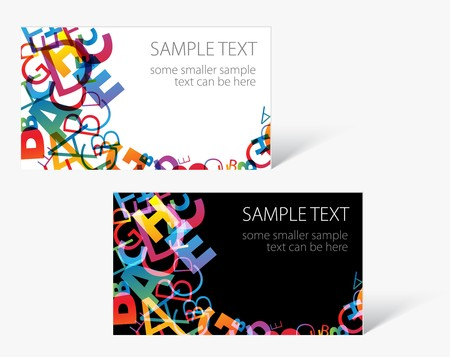 business name: Set of modern business card templates