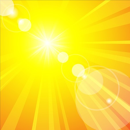 The hot summer sun - abstract warm background Vector