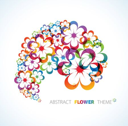 Abstract floral background with place for your text Stock Photo - 7151295