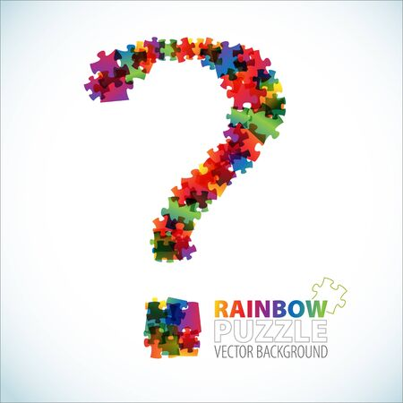Question mark made from colorful puzzle pieces Stock Photo - 7151285