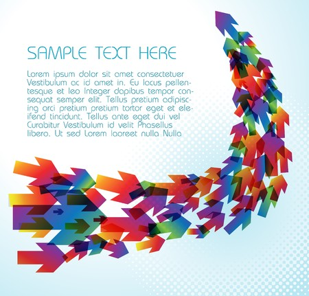 flexible business: Technical background with colorful arrows on light blue
