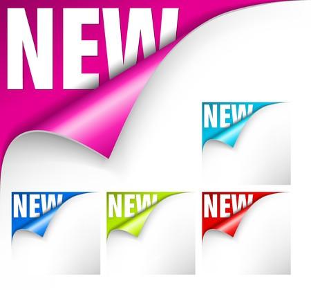 turn the corner: Colecci�n de documentos con doblez y nuevas letras para un nuevo elemento