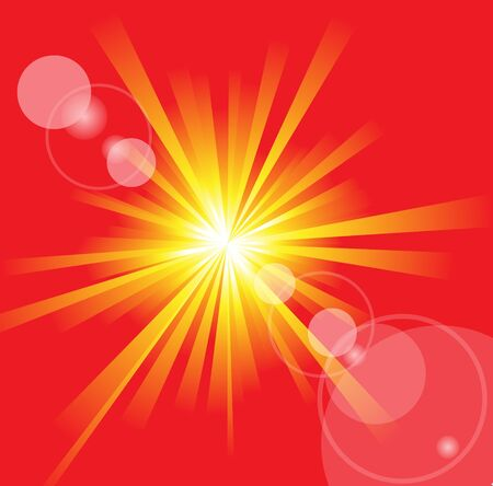 resizable: The hot summer sun with lens flare