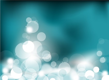 Abstract glowing light on a teal background