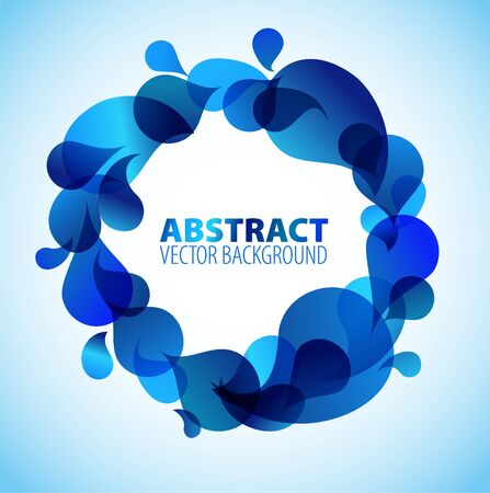 Abstract blue background with place for your tex Stock Vector - 7320176