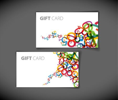 name card design: Set of modern gift card templates