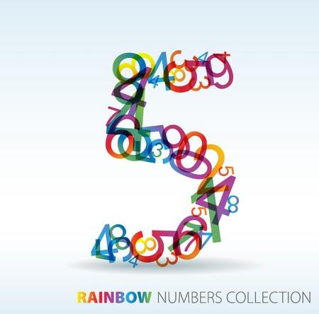 Numero cinque effettuate dai numeri colorati - controllare il mio portafoglio per altri numeri