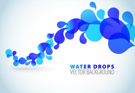 droplets: Abstract blue background with place for your text Illustration