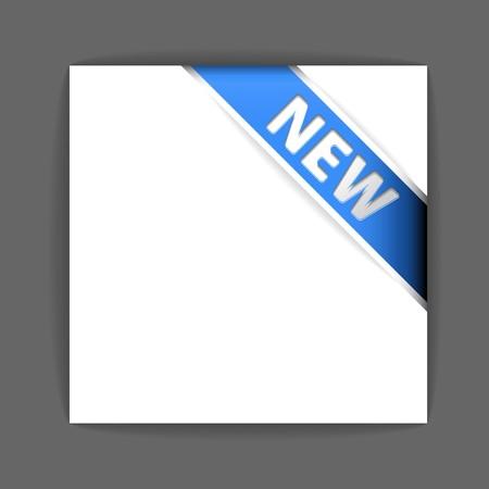foglio bianco: Nuovo nastro verde angolo sul foglio di carta bianca Vettoriali