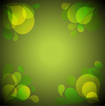 Abstract green background with place for your text Stock Vector - 7751736